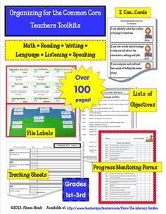 Here it is... all in one resource! Every Common Core Standard for your grade level unpacked into teachable objectives, printable labels to organize your files, progress monitoring forms to record student mastery levels, and curriculum tracking forms for lesson planning and curriculum mapping. Over 100 pages written by a teacher for teachers!