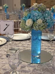 Centerpieces at a baby shower party! See more party ideas at CatchMyParty.com!