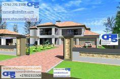 Family House Plans, Dream House Plans, House Floor Plans, Exterior Paint Colors, Paint Colours, Dream Homes, My Dream Home, Double Storey House Plans, African House