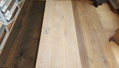 NIEUW in het assortiment van Natuurlijk Hout! Eiken houten oude spoorbielzen. Door zijn bewerkingen krijg je een unieke, doorleefde en verouderde vloer. 18/22 cm breed, 16 mm dik. Verkrijgbaar in de kleuren: Zwart, Wit of Grijs.  Nu voor € 67,- m²