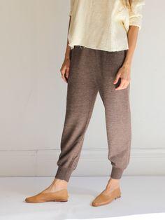 Caron Callahan Knit Tara Pants - Brown