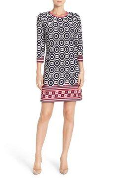 bb16afdf7884 Eliza J Print Jersey Shift Dress (Regular   Petite) Stitch Fit
