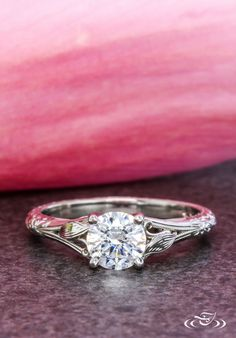 Classic Antique Inspired Engagement Ring ~ #GreenLakeJewelry
