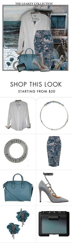 """Pencil Skirt and Blouse"" by theleakeycollection ❤ liked on Polyvore featuring Burberry, Melissa McCarthy Seven7, Givenchy, Valentino, Lanvin, NARS Cosmetics and plus size clothing"