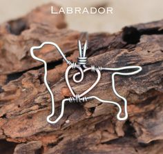 Labrador Dog Necklace, Custom Dog Necklace, Sterling Silver Dog, Dog Outline, Wire Jewelry