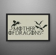 BUY 2 GET 1 FREE Mother of Dragons cross by NataliNeedlework