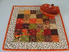 Fall Autumn Patchwork Quilted Table Topper by countrysewing4U