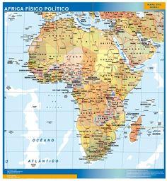 Mapa Africa Físico Político | Mapas Posters Mundo y España