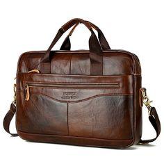 9af4d8c001bd US 54.4 - Vintage Genuine Leather Handbag Business Crossbody Bag Handbags  For Men