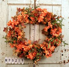 Indian Summer Front Door Wreath For Fall