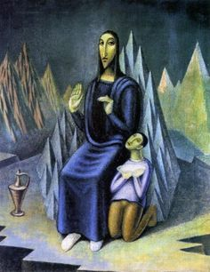 Jan Zrzavý - Sermon on the Mount. Oil Painting Gallery, Oil Painting Reproductions, Buy Paintings, Magick, Les Oeuvres, Canvas, Drawings, Illustration, Artwork