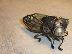 Cicada OOAK Bug 17 Yr. Locust Steampunk Creepy by OneDegreeEast, $115.00 Etsy