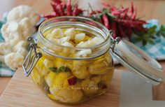 Cavolfiore sott'olio croccante gustoso e senza rischi Antipasto, Fett, Pickles, Cucumber, Canning, Contouring, Appetizer, Pickling, Cauliflowers