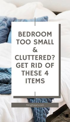 4 items that are blocking you from having a completely decluttered bedroom that's easy to maintain. Why and how to purge your bedroom of everyday items that are actually clutter. Click through for deep declutter tips that will change your life. #decluttering #clutter #minimalist Easy S, Make It Simple, Minimalist Bedroom, Minimalist Home, Diy Cleaning Products, Cleaning Hacks, Cluttered Bedroom, Joshua Becker, House Chores