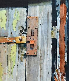 """Old Barn at Rimac 2"" - Original Fine Art for Sale - © David Morris"