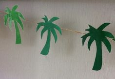 Palm tree tropical banner
