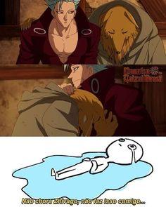 I cried a lot in this episode muitoooooooo - Anime Thing Anime Meme, Otaku Meme, Manga Anime, Seven Deadly Sins Anime, 7 Deadly Sins, Seven Knight, 7 Sins, Seven Deady Sins, Devilman Crybaby