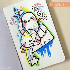 A quick random abstract doodle ^_^ | www.youtube.com/piccandle | #doodle #art #colors #cute