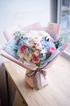 Seeing beautiful flowers makes you feel good - Page 12 of 54 - Lialip Beautiful Bouquet Of Flowers, All Flowers, Amazing Flowers, Purple Flowers, Beautiful Flowers, Wedding Flowers, Gift Bouquet, Hand Bouquet, Floral Foam