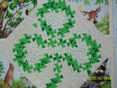 Twister quilt shamrock | Handcrafts By Jennifer