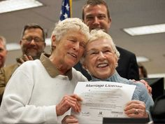 Pictures from the various ceremonies show nothing but joy and love as same-sex couples, many of whom have been together for decades, were able to obtain a marriage license.  Read more: http://www.businessinsider.com/gay-marriage-ceremony-photos-2013-1?op=1#ixzz2ZEy47g3z