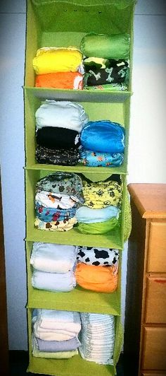 Cloth diaper storage - hanging in closet or on a rod
