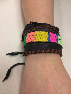 Loom Woven Leather Cuff