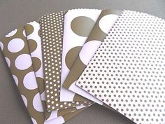Paper Gift Bags  Set of Six 6 Chocolate Brown and por suziescards, $3,00