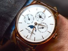 """Frédérique Constant Slimline Perpetual Calendar Manufacture Watch Hands-On - by Jack Wagner - Learn more about the in-house perpetual calendar at: aBlogtoWatch.com - """"Introduced at Baselworld 2016, the Frédérique Constant Slimline Perpetual Calendar Manufacture was one of the highlights of the convention, with enthusiasts fawning over its good looks, slim design, in-house perpetual calendar movement, and most amazingly, an estimated price of around 8,000 CHF. aBlogtoWatch recently got…"""
