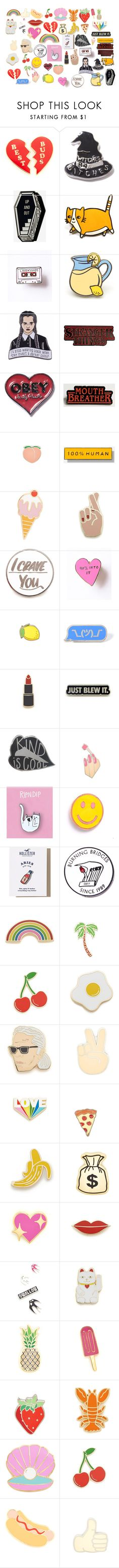 """""""Pins"""" by alilaforce on Polyvore featuring Georgia Perry, Killstar, OBEY Clothing, PINTRILL, Everlane, Baron Von Fancy, RIPNDIP, Hollister Co. and McQ by Alexander McQueen"""