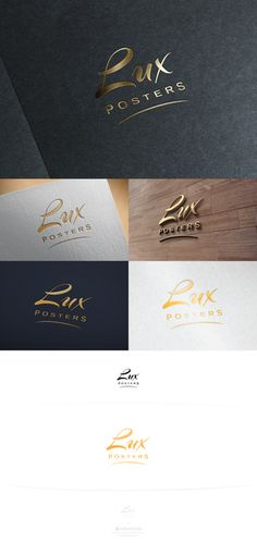 Design Logo for Lux Posters. Luxury Posters for Home or office! by ARCHIFEED