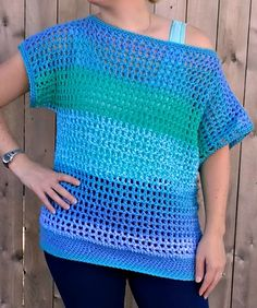 Crochet Blouse Off-the-Shoulder Crochet Top - Free Pattern by Croyden Crochet - Crochet this super easy and breezy crochet top. The pattern features a wide and generous head opening for an off-the-shoulder look. Crochet Bodycon Dresses, Black Crochet Dress, Crochet Blouse, Cute Crochet, Easy Crochet, Knit Crochet, Single Crochet Decrease, Double Crochet, Top Pattern