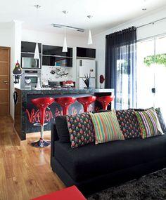 Portal Decoração - Reforma de ambiente traz cozinha para dentro da sala