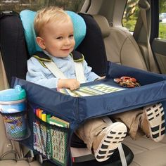 Child Car Seat Waterproof Tray With Storage