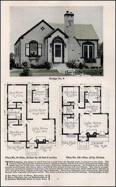 https://flic.kr/p/pqj7JW | Bungalow House Plans | Plan Service Co. Late twenties house plan catalog.