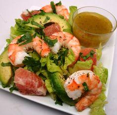 Shrimp and Avocado Salad with Grapefruit Vinaigrette: http://www.achieve-life.com/shrimp-and-avocado-salad-with-grapefruit-vinaigrette_recipe_2569.htm