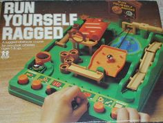 Run Yourself Ragged game. Yes, before the iPad we could only play one game. 90s Childhood, My Childhood Memories, Vintage Board Games, Only Play, 80s Kids, Ol Days, Retro Toys, Classic Toys, Pinball