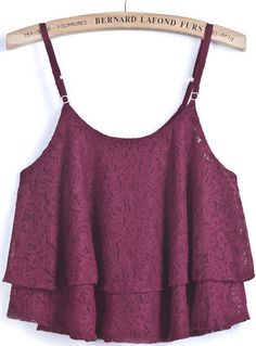 Bernard Lafond Furs - Red Spaghetti Strap Lace Loose Vest, $5.00 (http://www.bernardlafondfurs.com/red-spaghetti-strap-lace-loose-vest/)