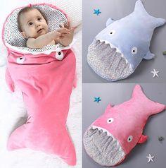 0-1 years Newborn Shark Sleeping Bags Baby Sleeping Bag for Spring & Autumn Winter Cute Cotton Sleeping Bag 85*45cm