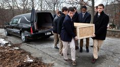 When a body goes unclaimed in Boston, it may receive a burial at a city cemetery. Students at a nearby boys' school are among those who volunteer to be pallbearers for people they've never met.