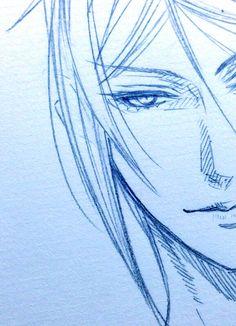 "Sebastian Michaelis - Black Butler - Kuroshitsuji - "" Yana Toboso's Sketch """