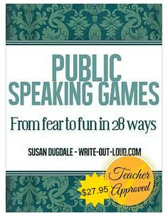 10 free word games to develop public speaking fluency, spontaneity and confidence while having fun: Consider choosing one of these activities for your turn to lead the CLASS CONVERSATION WARM-UP! Public Speaking Activities, Speaking Games, Drama Activities, Public Speaking Tips, Speech Activities, Drama Games, Group Activities, Classroom Activities, Leadership Classes