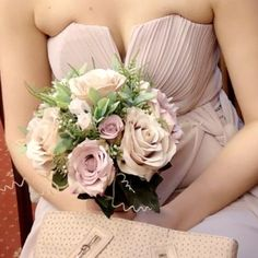 A collection of wedding bouquets featuring dusky pink roses Artificial Wedding Bouquets, Silk Wedding Bouquets, Bride Bouquets, Bridesmaid Bouquet, Bridesmaid Dresses, Wedding Dresses, Pink Lace, Pink Roses, Flowers