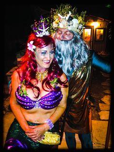 homemade Ariel the Mermaid & King Triton costumes King Triton Costume, Halloween Costumes 2014, Ariel, Mermaid, Homemade, Style, Fashion, Swag, Moda