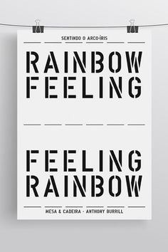 Rainbow feeling poster