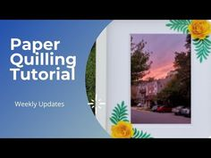 Paper Quilling Tutorial, Paper Quilling Designs, Quilling Art, Art Pages, Hello Everyone, Crafts, Manualidades, Handmade Crafts, Craft