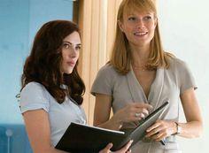 Scarlett Johansson and Gwyneth Paltrow in Iron Man 2