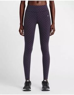 NIKE TIGHTS epic Lux FlashSize S 6 8 Patterned Running Purple SILVER Bnwt | eBay