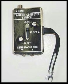 Old game systems!  You had to flip this switch on your tv to play Atari!
