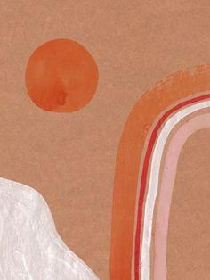 WATERCOLOR RAINBOW IN THE MOUNTAINS - urbanarts Orange Home Decor, Orange House, Burnt Orange Color, House Colors, Canvas, Kids Rugs, Rainbow, Watercolor, Mountains